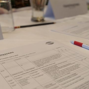 The agenda for Toastmasters Villach's very first meeting.